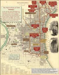 1844 Nativist Riot Map (Encyclopedia of Greater Philadelphia )