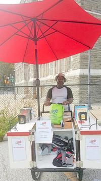 Marvin DeBose with Book Bike