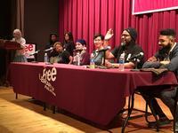 2017's Diversity in Comics Panel featuring Jaz Malone, Cyn Why, Andrea Tsurumi, Jamar Nicholas, and Joe Turner.