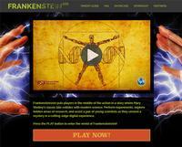 Screenshot of the Frankenstein200 digital interactive