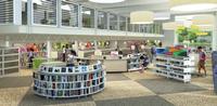 Lovett Memorial Library interior rendering