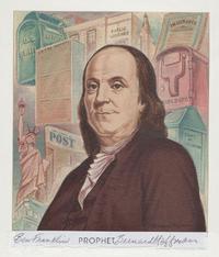 Benjamin Franklin, Prophet by Bernard Hoffman (1952)