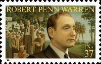 A United States postage stamp featuring Robert Penn Warren