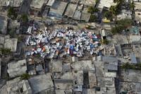Tents in a Haitian Neighborhood