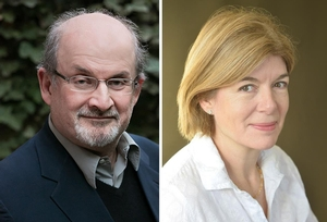 Salman Rushdie with Claire Messud
