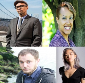 Victor LaValle with Justina Ireland, Sam J. Miller, and Alice Sola Kim | <i>A People's Future of the United States: Twenty-five Visionary Stories</i>