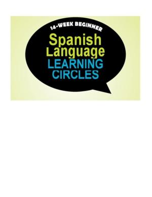 14 Week Beginner Spanish Learning Circle