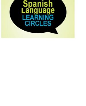 9 Week Intermediate Spanish Learning Circle