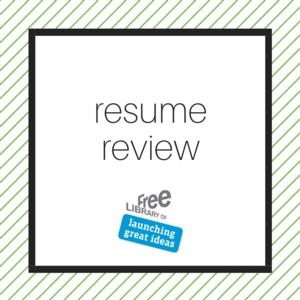 VIRTUAL - Resume Review