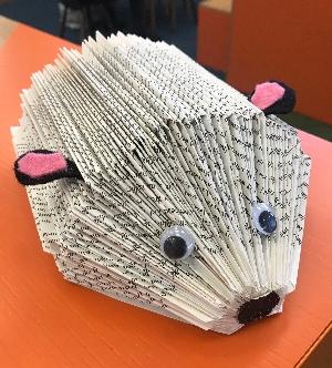 Book Hedgehog Craft