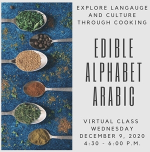 Virtual Edible Alphabet Arabic: Learning Arabic While Cooking with the Free Library