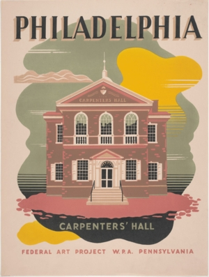 VIRTUAL FIELD TRIP - Places for the People: WPA Travel Posters Exhibit at Carpenters' Hall