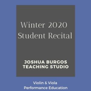 Winter 2020 Student Recital