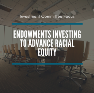 Virtual Investment Committee Focus: Endowments Investing to Advance Racial Equity