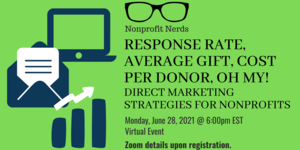 Virtual Nonprofit Nerds: Response Rate, Average Gift, Cost Per Donor, Oh My!