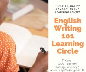 English Writing 101 Learning Circle