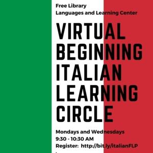 Beginning Italian Learning Circle