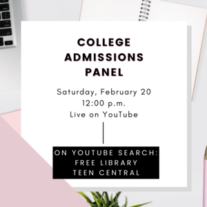 VIRTUAL | College Admissions Panel for Teens