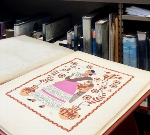 Pop-Up book display: Folk Art of Mexico