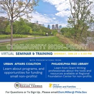 Community Nonprofit Virtual Seminar and Training