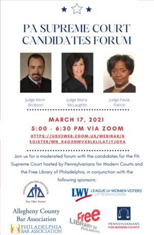 Pennsylvania Supreme Court Candidates Forum