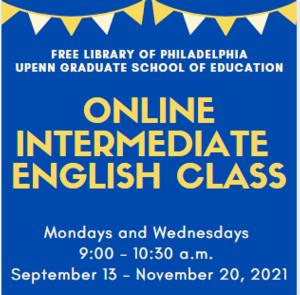 Online Intermediate English Class