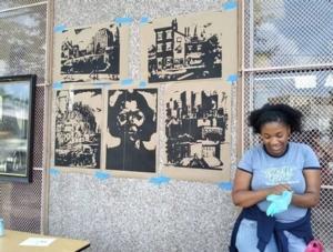 Printmaking with the Dox Thrash House