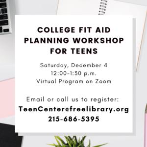College Fit & Planning Workshop | Virtual