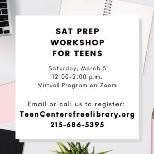SAT Prep Workshop for Teens | Virtual