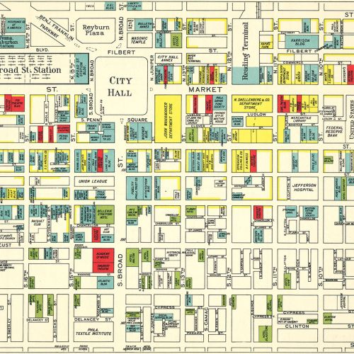 Franklin's Street and Business Occupancy Atlas of Philadelphia & Suburbs, 1946, Center City Buildings