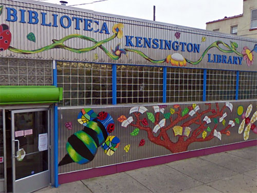 front entrance of Kensington Library