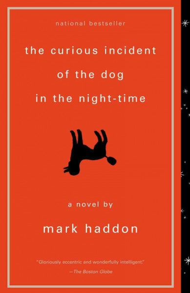 Book Cover - The Curious  Incident of the Dog in the Night-Time by Mark Haddon
