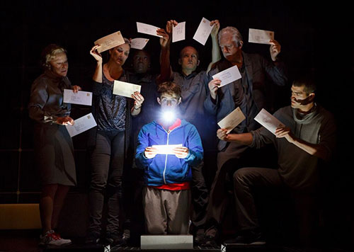 Theatre production of The Curious Incident of the Dog in the Night-Time