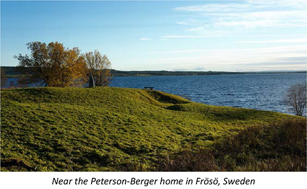 Near the Peterson-Berger home in Frösö, Sweden