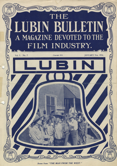 Front cover of the January 31, 1914 issue of The Lubin Bulletin, a trade magazine published by the Lubin Film Manufacturing Company to advertise its films to exhibitors