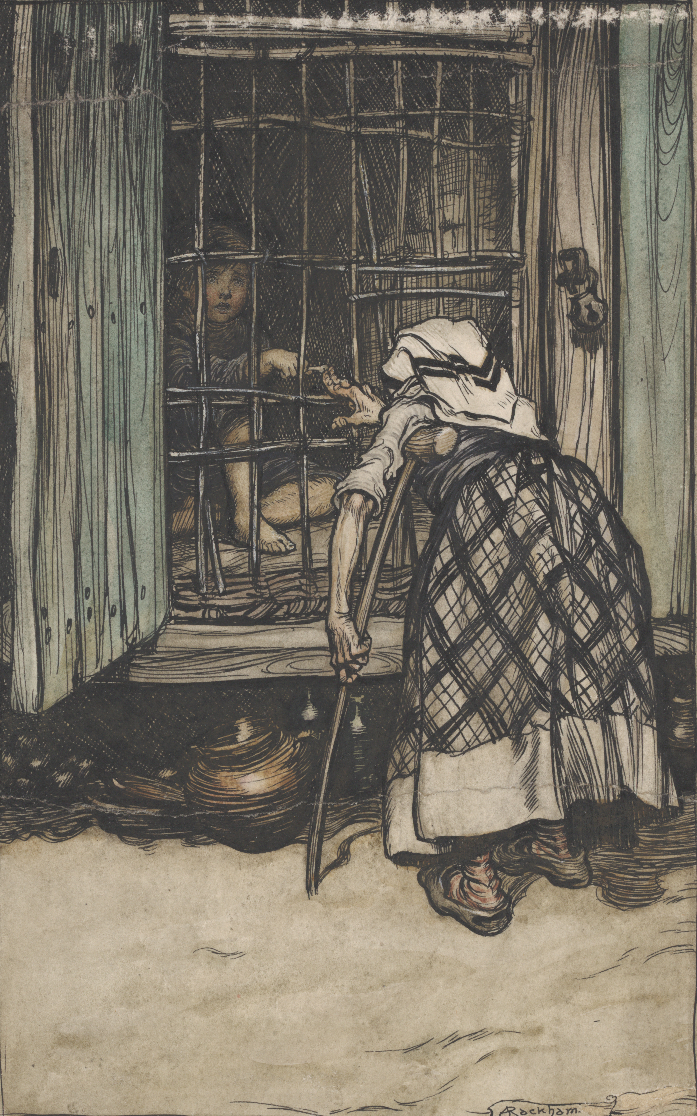 Arthur Rackham. Original illustration for Hansel & Gretel & Other Tales. New York: [1920]. RBD RA ART M6