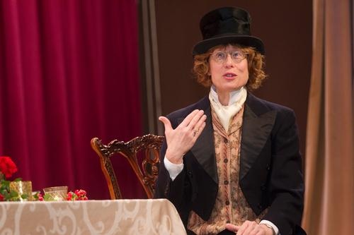 Lisa as Charles Dickens (photo by Ryan Brandenberg)