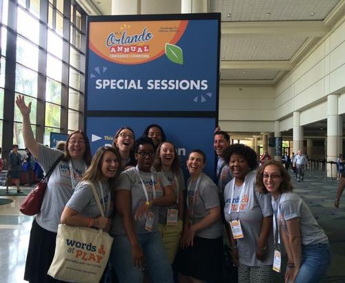 The Words at Play team celebrates a successful conference session!