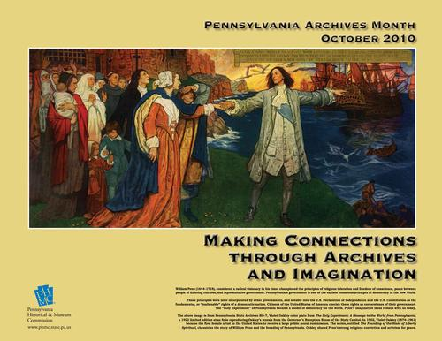 Pennsylvania Archives Month poster from the Pennsylvania Historical and Museum Commission <br> Click image to enlarge
