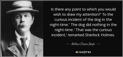 Sir Arthur Conan Doyle quote that inspired the title for Mark Haddon's book.