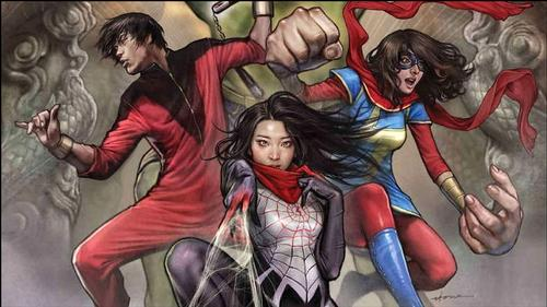 The Hulk, SILK, and Ms. Marvel!