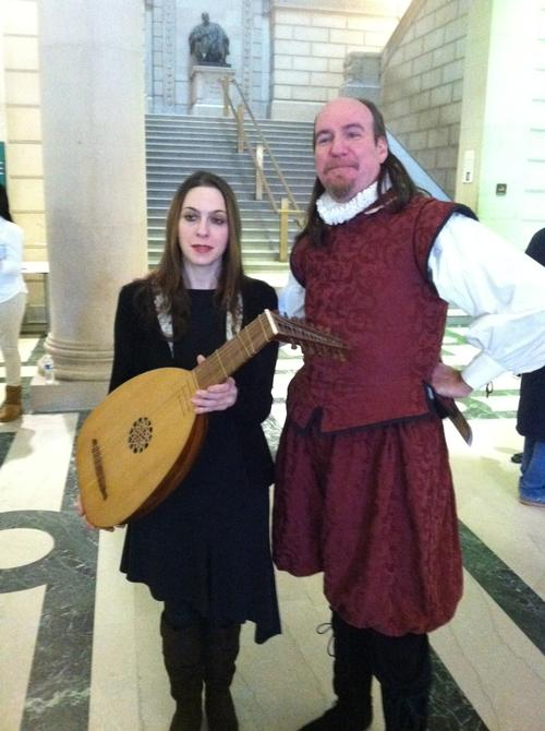 Lute player Monique Canniere joins William Shakespeare for the Year of the Bard Kickoff