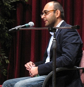Mohsin Hamid at the Philadelphia Book Festival.