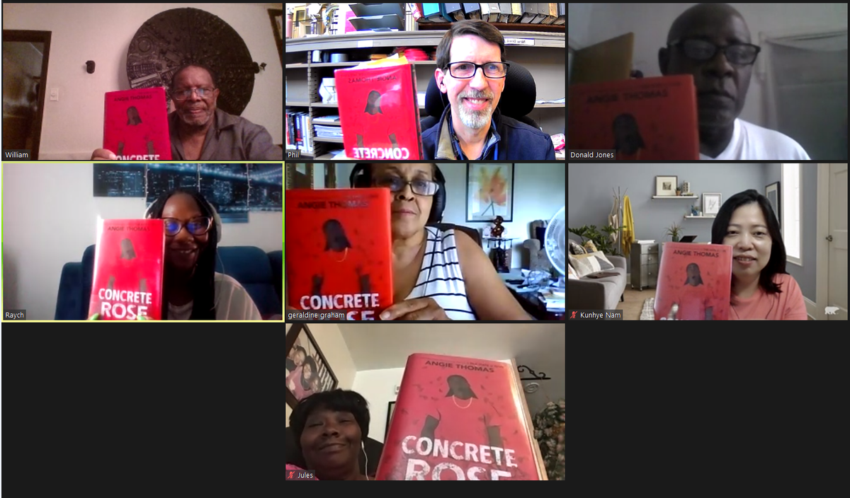 Members of the Adult Literacy Book Club