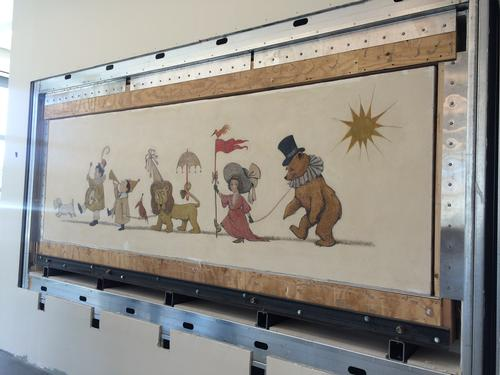 The Maurice Sandak Chertoff Mural, now installed in the South Philadelphia Library Children's Library.