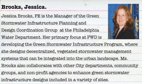 Jessica Brooks will be on hand to talk about Philly's green water initiatives!
