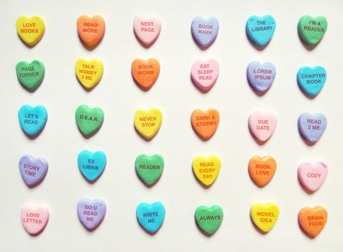 Candy hearts say the sweetest literary things!