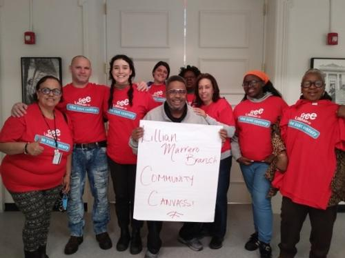 Community Organizers helped develop a community outreach  team that went canvassing on behalf of the Library.