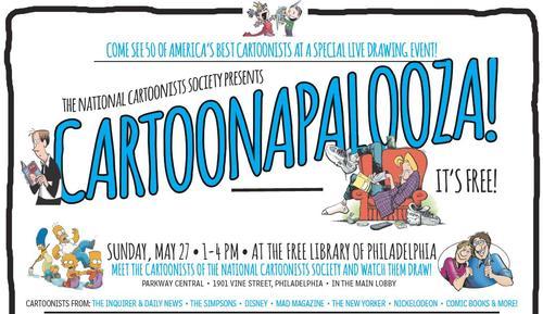 Experience Cartoonapalooza Sunday, May 27 at 1:00 p.m. at Parkway Central Library