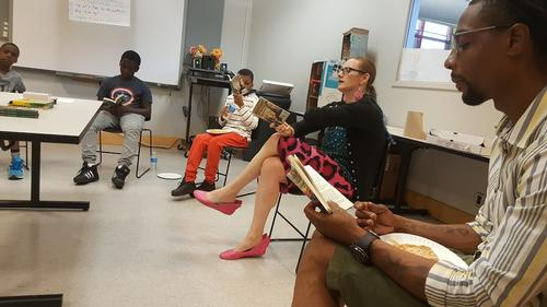 Change Course is a reading diversion program to excite and enliven the kids in our city who need extra reinforcement and outlets for their growth.